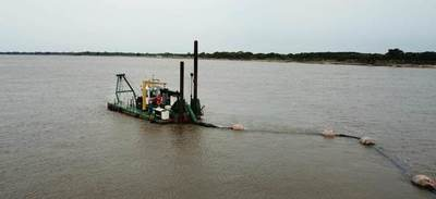 Realizan dragado del río Paraguay. Pretenden extraer 1.000.000 metros cúbicos de arena
