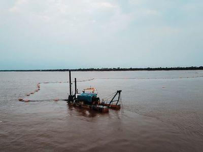 Bajante del río Paraguay obliga a realizar dragado en puntos críticos