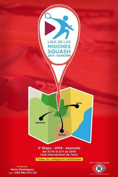 Cartelera para los fanáticos de Squash