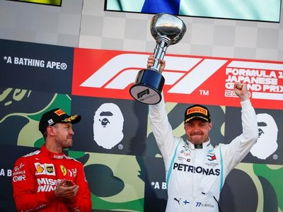 Bottas aprovecha un error de Vettel y Mercedes celebra su sexta corona