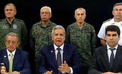 Moreno muda el Ejecutivo a Guayaquil y acusa a Maduro y Correa de querer desestabilizar a Ecuador