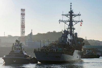 Destructor USS John McCain fue oculto durante visita de Trump a Japón