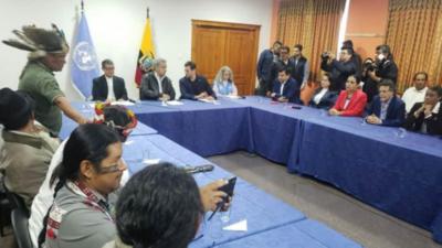 Gobierno ecuatoriano y movimiento indígena llegaron a un acuerdo