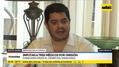 Caso Renato: Imputan a tres médicos por omisión