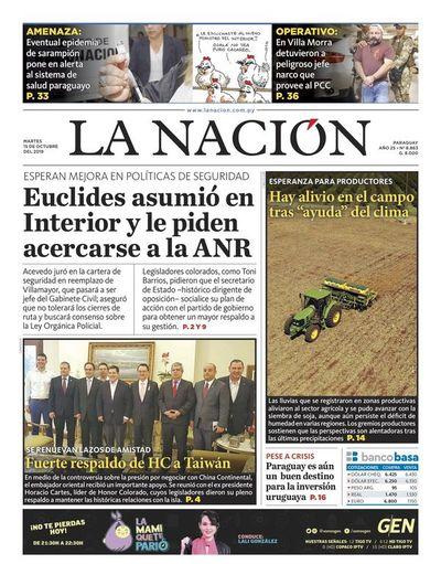 Edición impresa, 15 de octubre de 2019