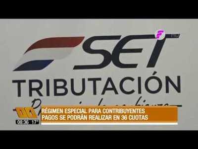 Régimen especial para contribuyentes: Pagos podrán realizarse en cuotas