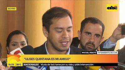 Prieto pretende hablar con Abdo sobre salud y construcción de parque