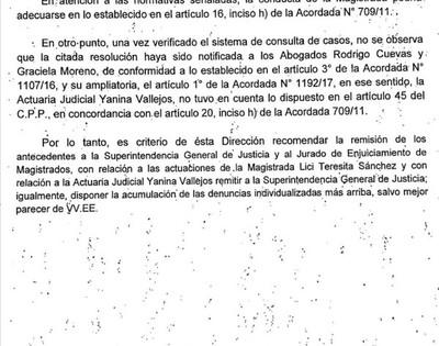 Auditoría de la Corte recomienda remitir al JEM a jueza que había ordenando captura de Belén Whittingslow