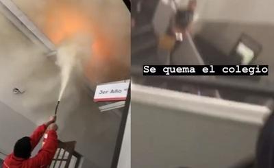 Principio de incendio causa susto en el Inter