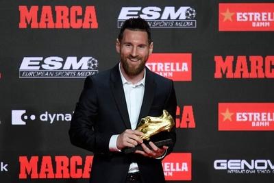 Lionel Messi recibió la sexta Bota de Oro como máximo goleador en Europa