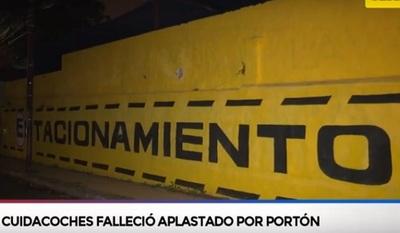 Trágico: Cuidacoche muere aplastado por un portón