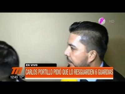 Carlos Portillo llegó tarde a la sesión y con seis guardaespaldas