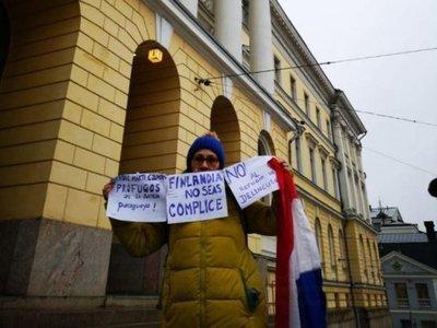 Neida, la paraguaya que en Finlandia protestó contra Arrom, Martí y Colmán