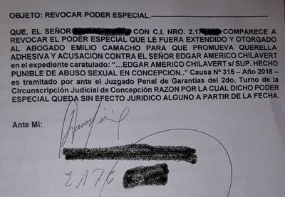 Camacho queda sin poder en caso Chilavert