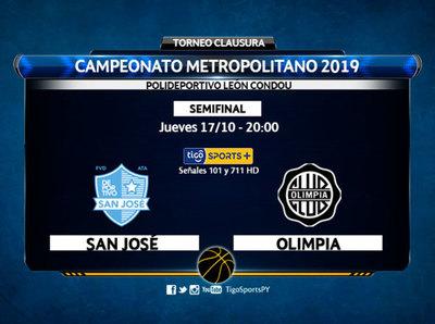 La promo de San José y Olimpia Kings