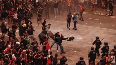 Barcelona y Madrid viven violentas protestas contra la sentencia del 'procés'