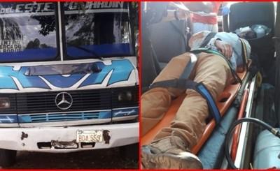 Motociclista es embestido por unidad de la empresa Ciudad Jardín