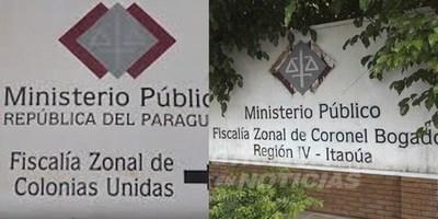 DISPONEN CAMBIOS EN LAS FISCALÍAS ZONALES DE CNEL. BOGADO, COLONIAS UNIDAS Y AYOLAS