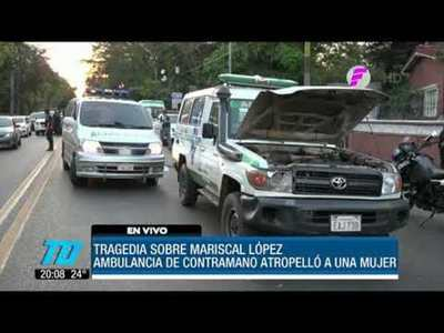Ambulancia atropelló y mató a una mujer