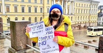 """Paraguaya protestó en Finlandia contra """"refugiados"""""""