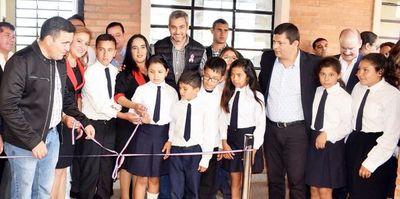 Inauguraron obras en escuela Manuel Cabello de Carapeguá