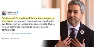 MARITO CONFUNDE GESTA REVOLUCIONARIA CON ANIVERSARIO DEL PLRA