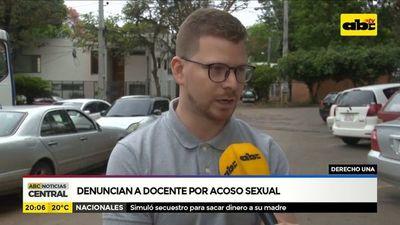 Denuncian a docente por acoso sexual