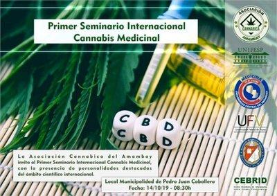 Seminario internacional sobre Cannabis Medicinal en el anfiteatro de la municipalidad