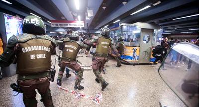 Detenidos y heridos en violentas protestas en Santiago de Chile
