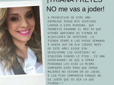 Escrachada por robar vestidos  anunció que va a demandar