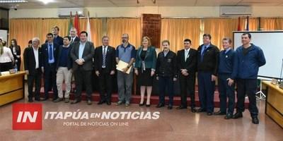 BOMBEROS DE ASFA- CANADÁ FUERON RECONOCIDOS POR AUTORIDADES DE ITAPÚA