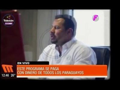 Programa de TV pagado con dinero de todos los paraguayos