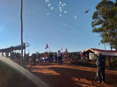 Policía prepara desalojo de campesinos en Caaguazú