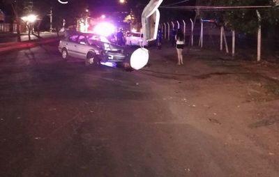 Dos aparatosos accidentes sobre Aviadores del Chaco