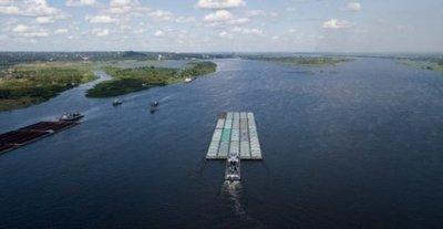 Descenso del río Paraguay podría perjudicar comercio fluvial