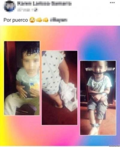 Imputan a mujer por maniatar y amordazar a su hijo de 2 años
