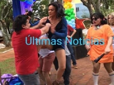 Kelembú ligó su parte en marcha gay