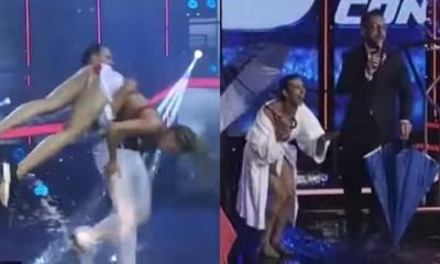 """Las caídas del baile """"Bajo la lluvia"""""""