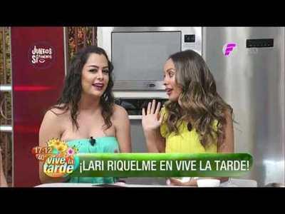 Larissa Riquelme visitó Vive la Tarde