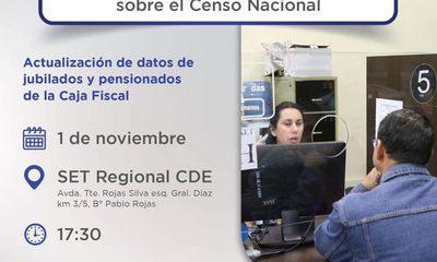 Realizarán charla informativa sobre censo nacional a jubilados y pensionados