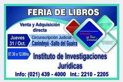 El jueves 31 harán feria de libros en Canindeyú