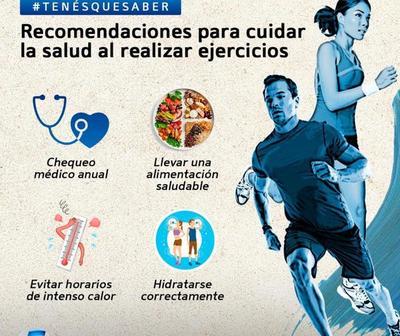 Recomendaciones para cuidar la salud al realizar ejercicios