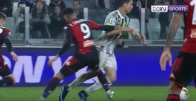 Sanabria le hizo un penal a Cristiano Ronaldo y la 'Juve' lo ganó