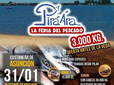 Rematan 3.000 kilos de pescado en la Costanera
