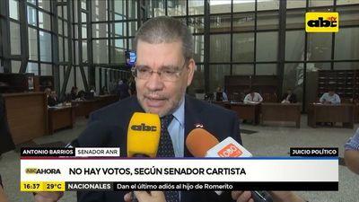 Juicio político: No hay votos, según senador cartista