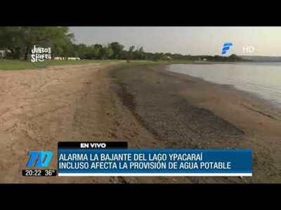 Alarmante descenso del lago Ypacaraí