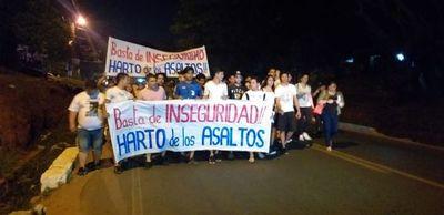 Marcha contra la inseguridad en Luque