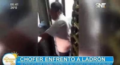 Chofer encierra a ladrón en bus, pero no logra detenerlo