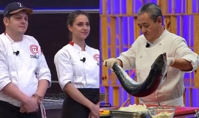 Especial de comida japonesa y sorpresiva eliminación de dos participantes ayer en MasterChef