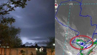 Núcleos de tormentas se desarrollan sobre Misiones